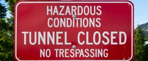 Hazardous Conditions Sign
